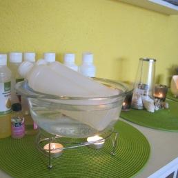 Warmes Massageöl